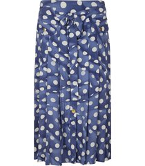 moschino polka dot pleated skirt