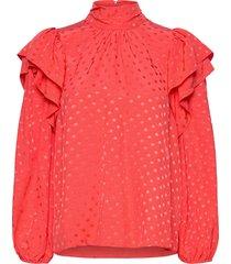 bella blouse lange mouwen rood hofmann copenhagen