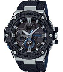 g-shock men's solar black resin strap watch 58.3mm