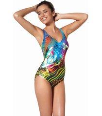 badpak ory 1-delig zwempak niet voorgevormd gepantserd -print