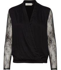 blouse ls blouse lange mouwen zwart rosemunde