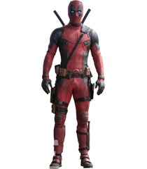 deadpool black red faux leather suit jacket pants for both costum,motorcycle use