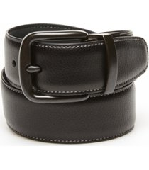 original penguin men's grey day logo reversible belt