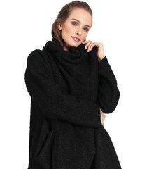 abrigo privilege negro - calce oversize