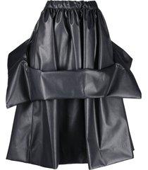 comme des garçons faux leather asymmetric skirt - black