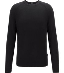 boss men's banilo regular-fit crew-neck cashmere sweater
