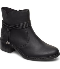 77658-00 shoes boots ankle boots ankle boots with heel svart rieker