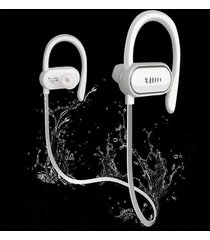 audífonos bluetooth deportivo a prueba de agua con mic - blanco