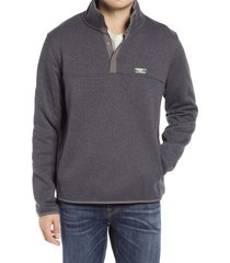 men's l.l.bean sweater fleece pullover, size medium - grey