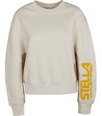stella mccartney colourblock logo sweatshirt