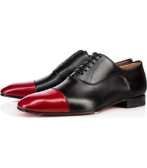 handmade men black and red oxford dress shoes,men formal leather shoes,men shoes