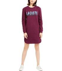 lacoste logo sweatshirt dress