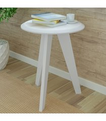 mesa de canto ellis branco - artely