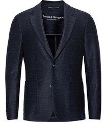 bs barbaresco tailored, blazer blazer kavaj blå bruun & stengade