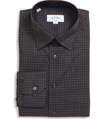 men's eton slim fit check dress shirt