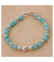 amazonite beaded bracelet, 'amazon dreams' (peru)