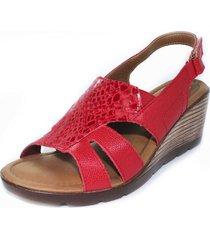 sandalia confort rojo burana 999-001