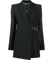 john richmond long buckle-fastening blazer - black
