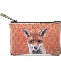 portmonetka kosmetyczka damska lis