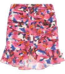 isabel marant milendi printed mini skirt