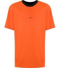 osklen logo print reversible t-shirt - orange