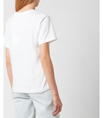 see by chloé women's summer tour on cotton jersey t-shirt - white - m