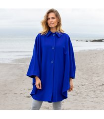 wool and cashmere evening cape royal blue