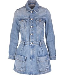 mini dress with vintage denim effect