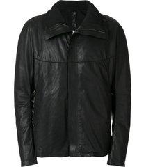 isaac sellam experience high-collar zip-up jacket - black