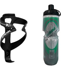 caramanhola garrafa termica bike com suporte e parafusos - multicolorido - masculino - dafiti