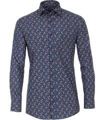shirt casa moda navy bloemprint
