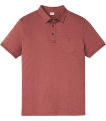 polo a maniche corte sostenibile in cotone biologico (rosso) - john baner jeanswear