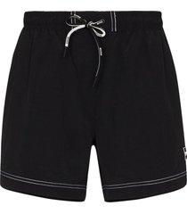 boss tuna drawstring swim shorts - black