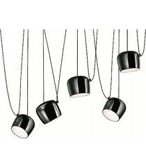 lampa wisząca 5 led black