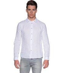 drykorn ruben casual shirt met lange mouwen licht blauw