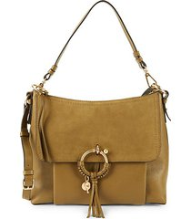 large joan suede & leather crossbody bag