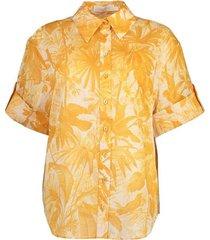 amber palm mae cuffed shirt