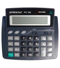 calculadora de mesa procalc pc123 12 dígitos solar preto