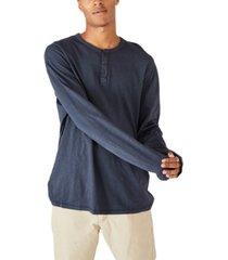 cotton on men's henley long sleeve t-shirt