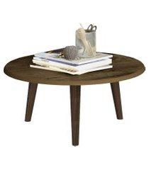 mesa de centro móveis bechara brilhante com pés palito rústico