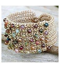 agate wristband bracelet, 'life in pai' (thailand)