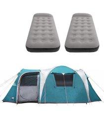 barraca camping nautika arizona gt 9/10 pessoas + 2 colchões solteiro inflável star aveludado