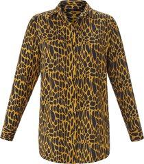 lange blouse met lange mouwen van emilia lay zwart