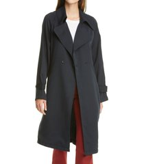 women's trave nicolette trench coat, size x-small - blue