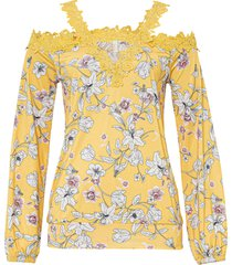 maglia con cut-out (giallo) - bodyflirt boutique