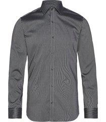 fine twill   california - slim fit skjorta business grå seven seas copenhagen