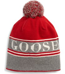canada goose pom merino wool blend beanie in red at nordstrom