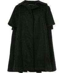 yohji yamamoto pre-owned oversized open-front cape - black