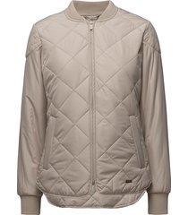 padded quilt jacket doorgestikte jas beige ilse jacobsen
