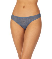 dkny modern lace thong, size medium in vintage blue at nordstrom